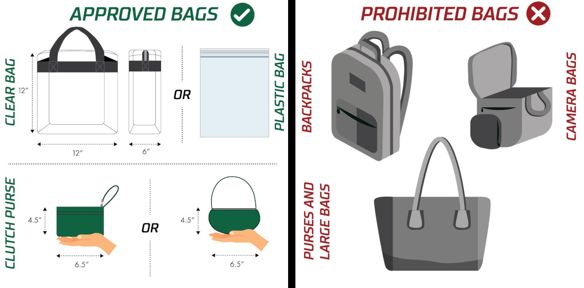 Approved and Prohibited bags