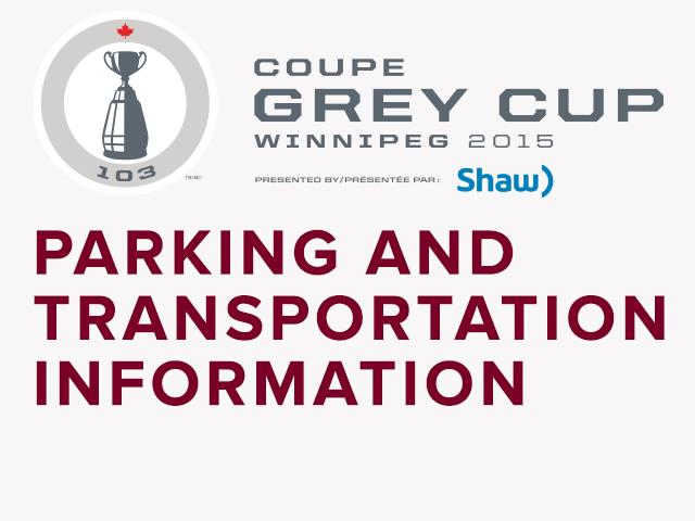 103rd Grey Cup Parking & Transportation Plan - Winnipeg Blue