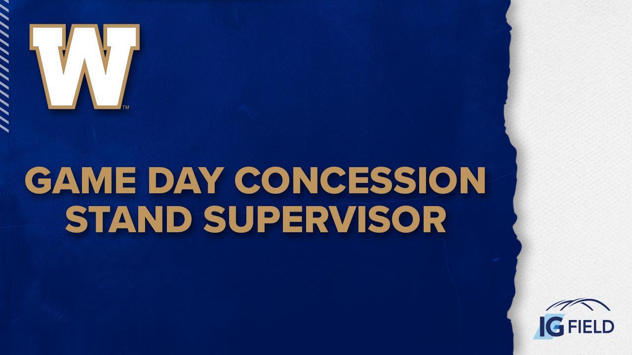 Game Day Concession Stand Supervisor - Job Posting