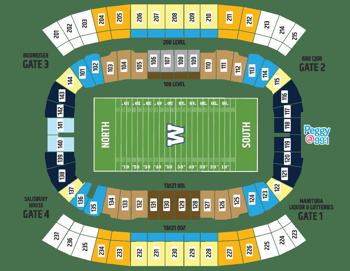 3d Seating Map Winnipeg Blue Bombers