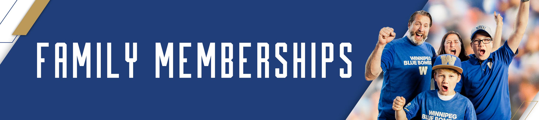 Winnipeg Blue Bombers Family Memberships