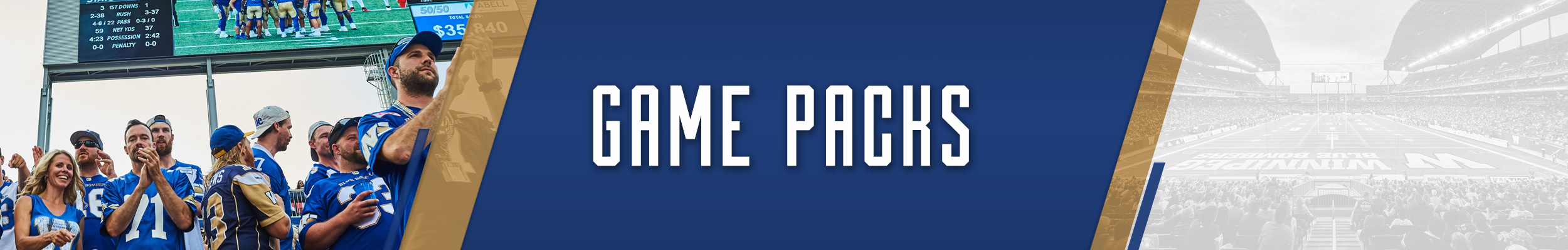 Winnipeg Blue Bombers Game Packs