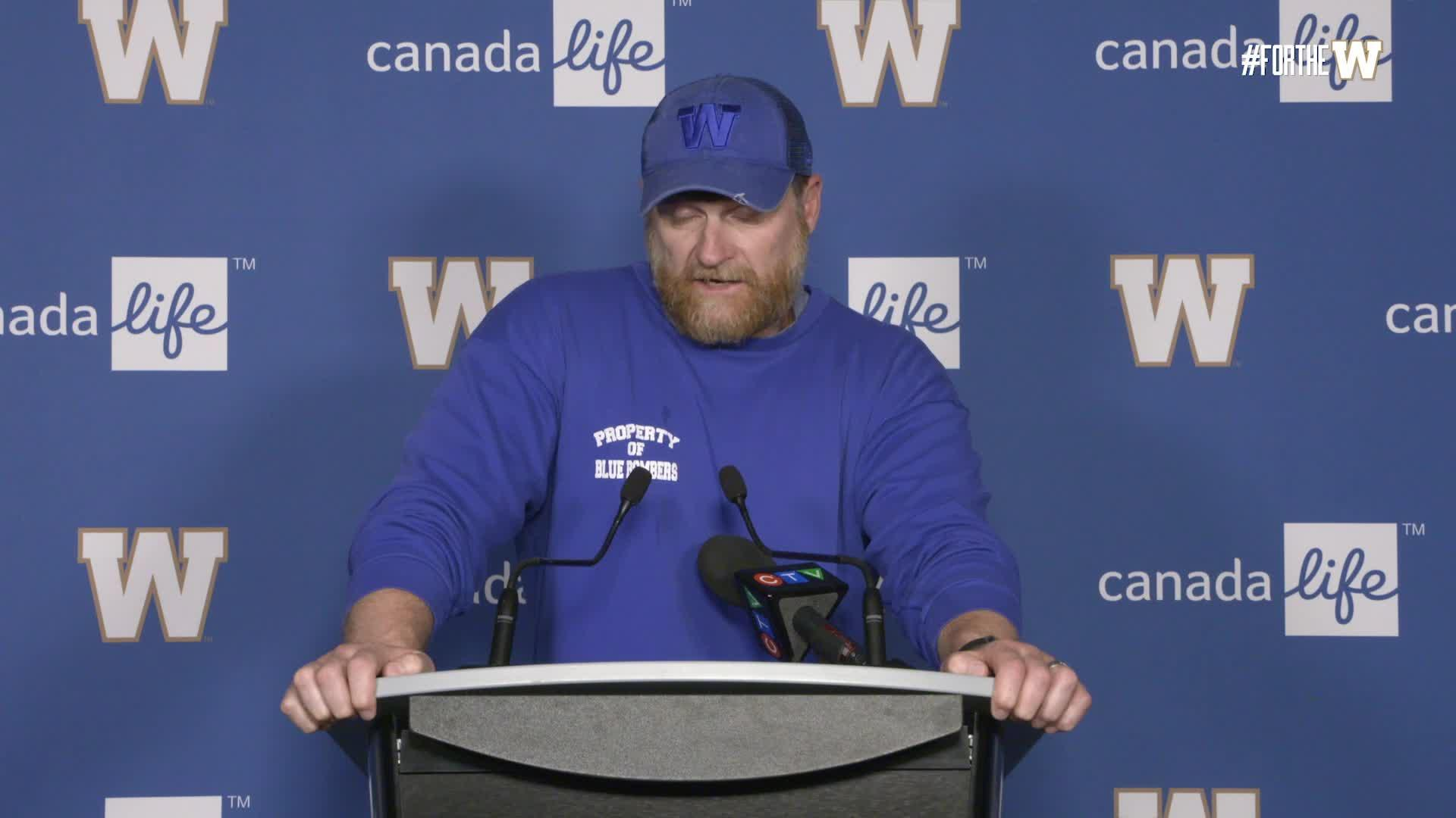 Coach O'Shea | June 24 - Winnipeg Blue Bombers