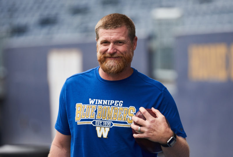 Winnipeg Blue Bombers Head Coach Mike O'Shea during practice at IG Field September 24, 2019