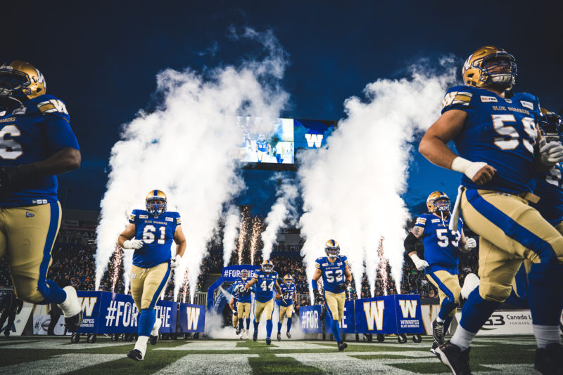 before the CFL game between the Winnipeg Blue Bombers and the Hamilton Tiger-Cats at Investors Group Field in Winnipeg, MB on Friday Sept. 27, 2019. (Photo: Johany Jutras / CFL)