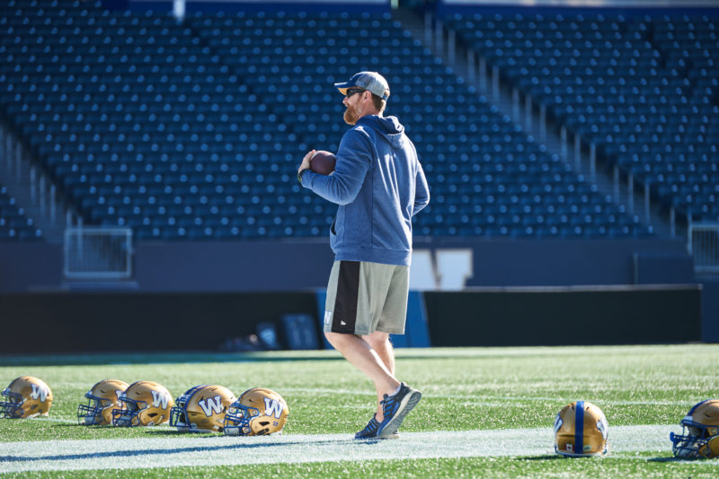Winnipeg Blue Bombers Head Coach Mike O'Shea during practice at IG Field October 8, 2019.