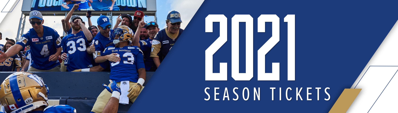 2021 Winnipeg Blue Bombers Season Tickets