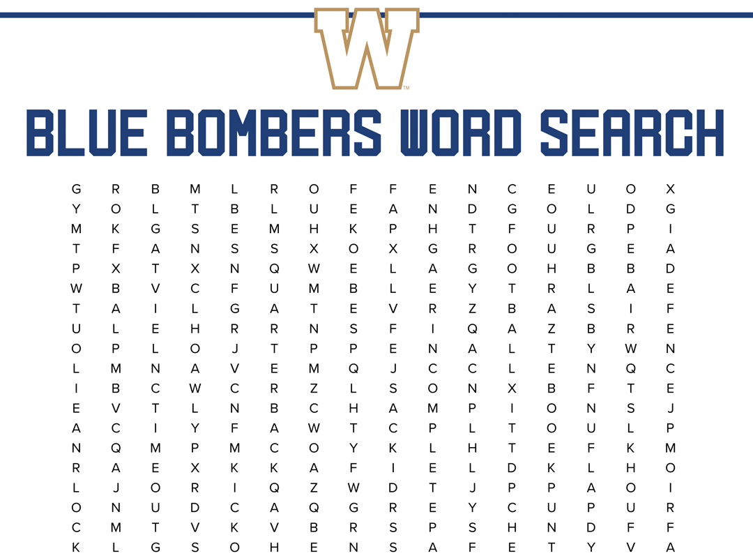 Bombers Word Search