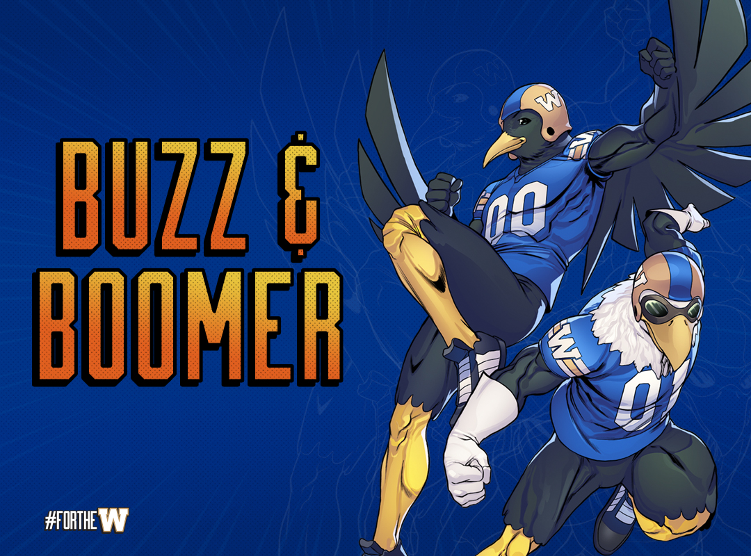 Buzz and Boomer Blue Background