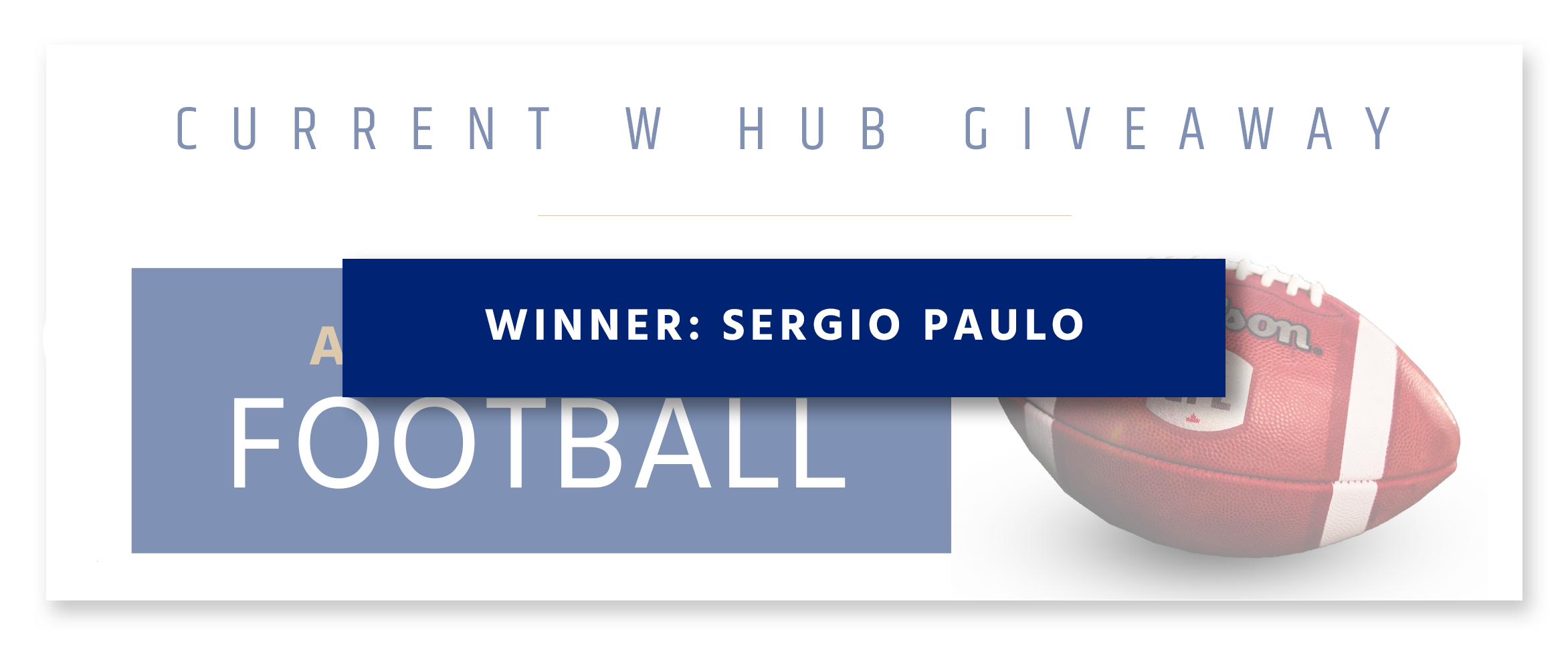 Monthly Giveaway - Autographed Football
