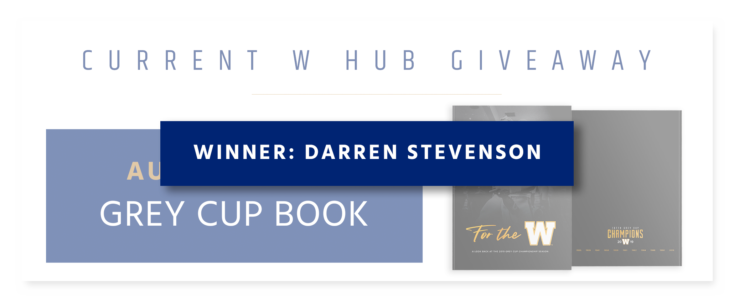Monthly Giveaway - Autographed Grey Cup Book