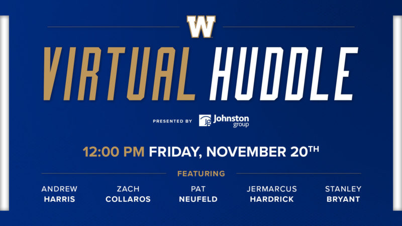 Virtual Huddle presented by Johnston Group | Grey Cup Unite