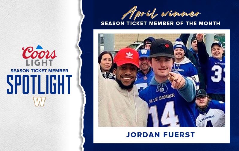 April Winner - Coors Light Season Ticket Member Spotlight