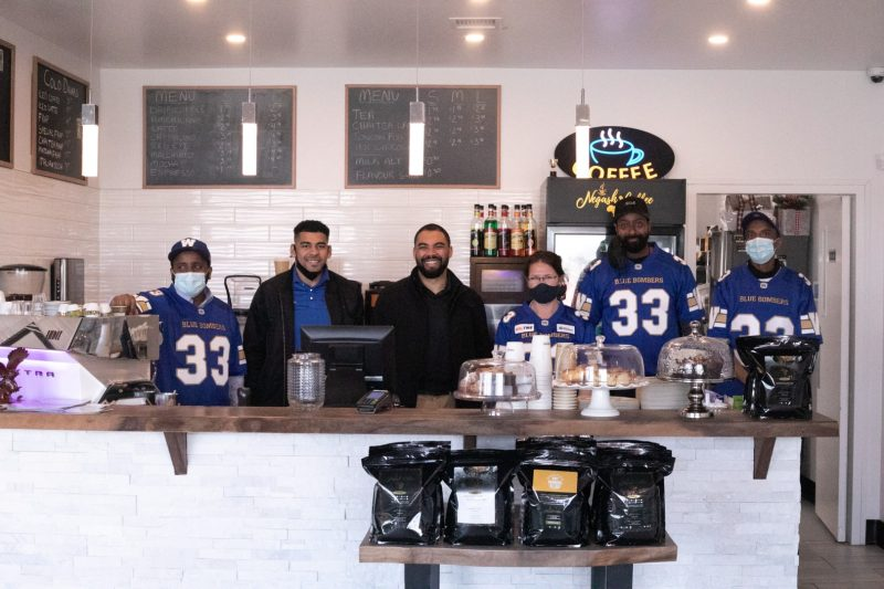 Blue Bombers & Negash Coffee Partnership
