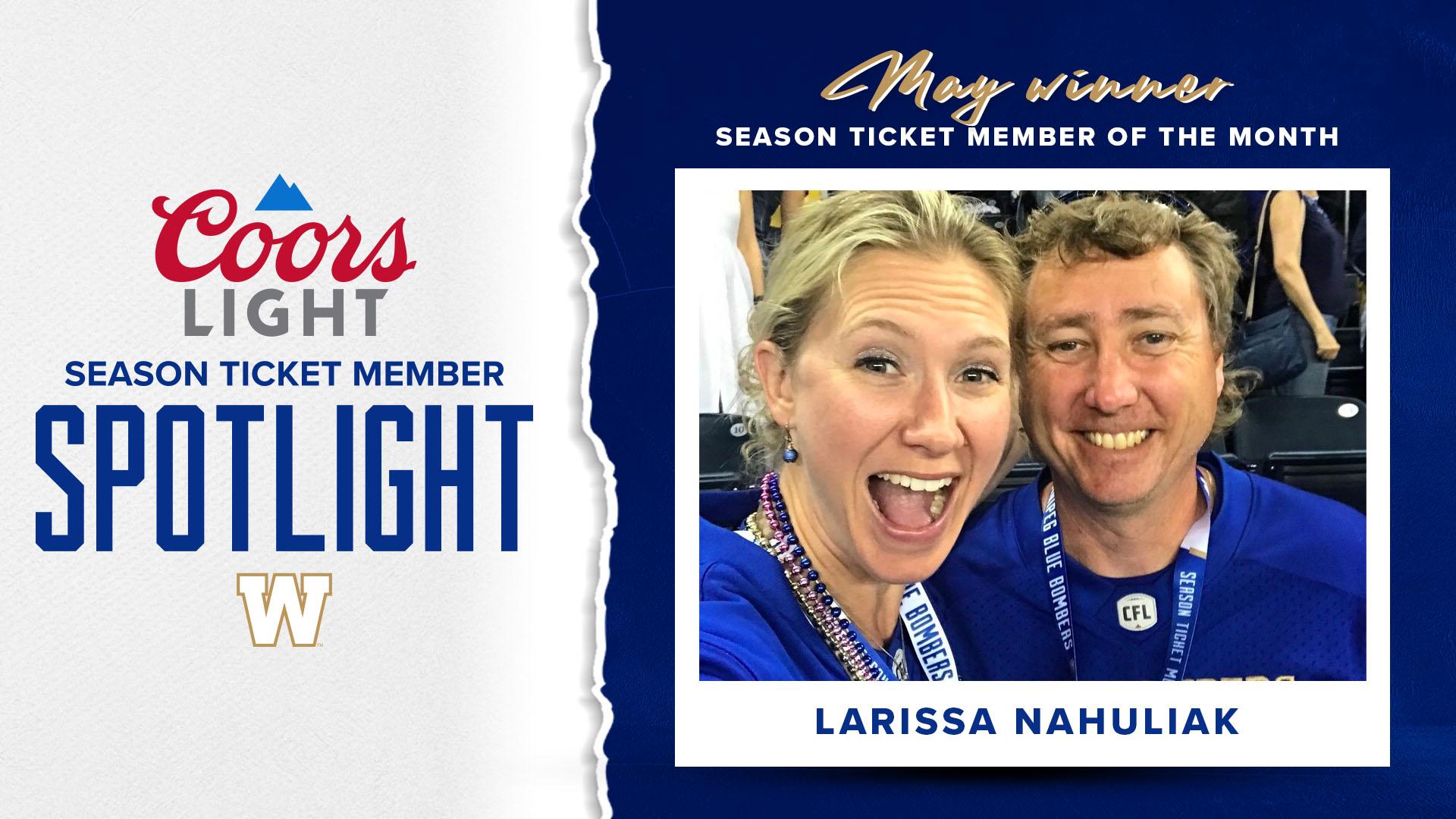 Coors Light Season Ticket Member Spotlight - May Winner