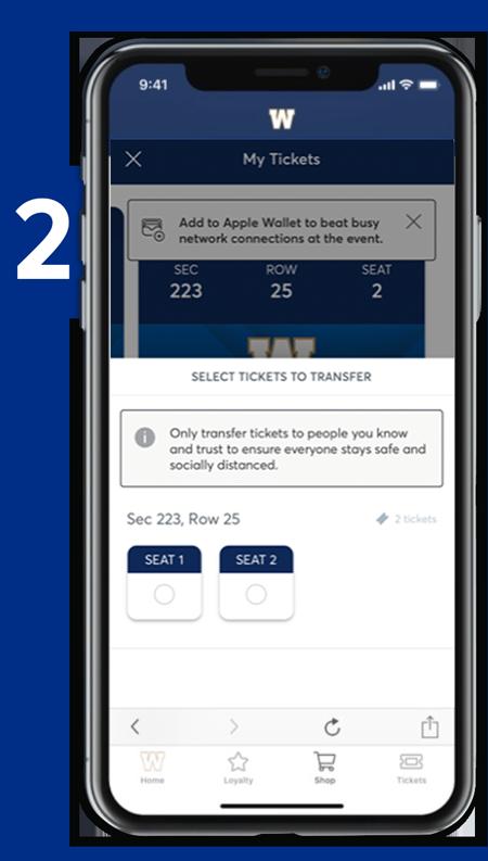 Transfer Tickets - Step 2