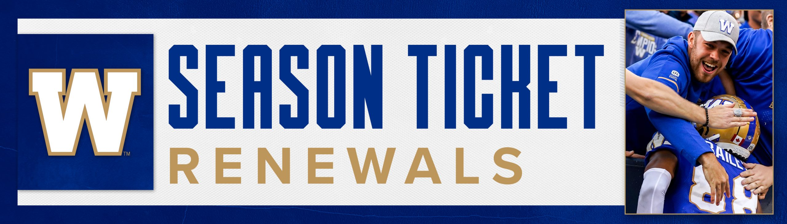 Winnipeg Blue Bombers Season Ticket Renewal for 2022