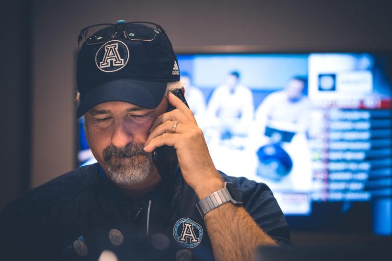 Jim Popp during the CFL Draft Day at the Argonauts office downtown Toronto on Sunday, May 7, 2017. (Photo: Johany Jutras)