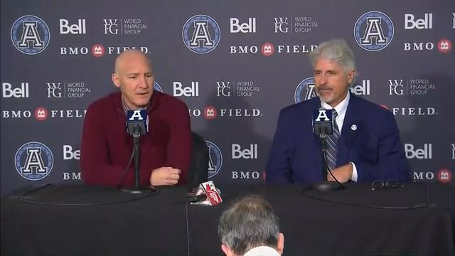 Argonauts Press Conference: Bill Manning & Jim Popp - November 3, 2018