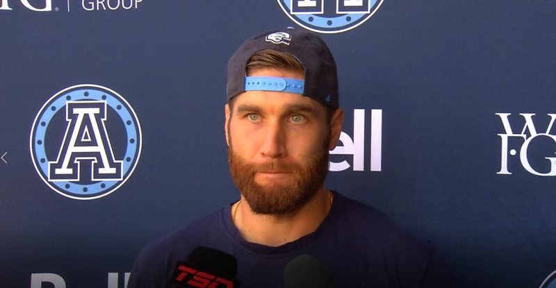 Toronto Argonauts Practice: McLeod Bethel-Thompson – September 17, 2019