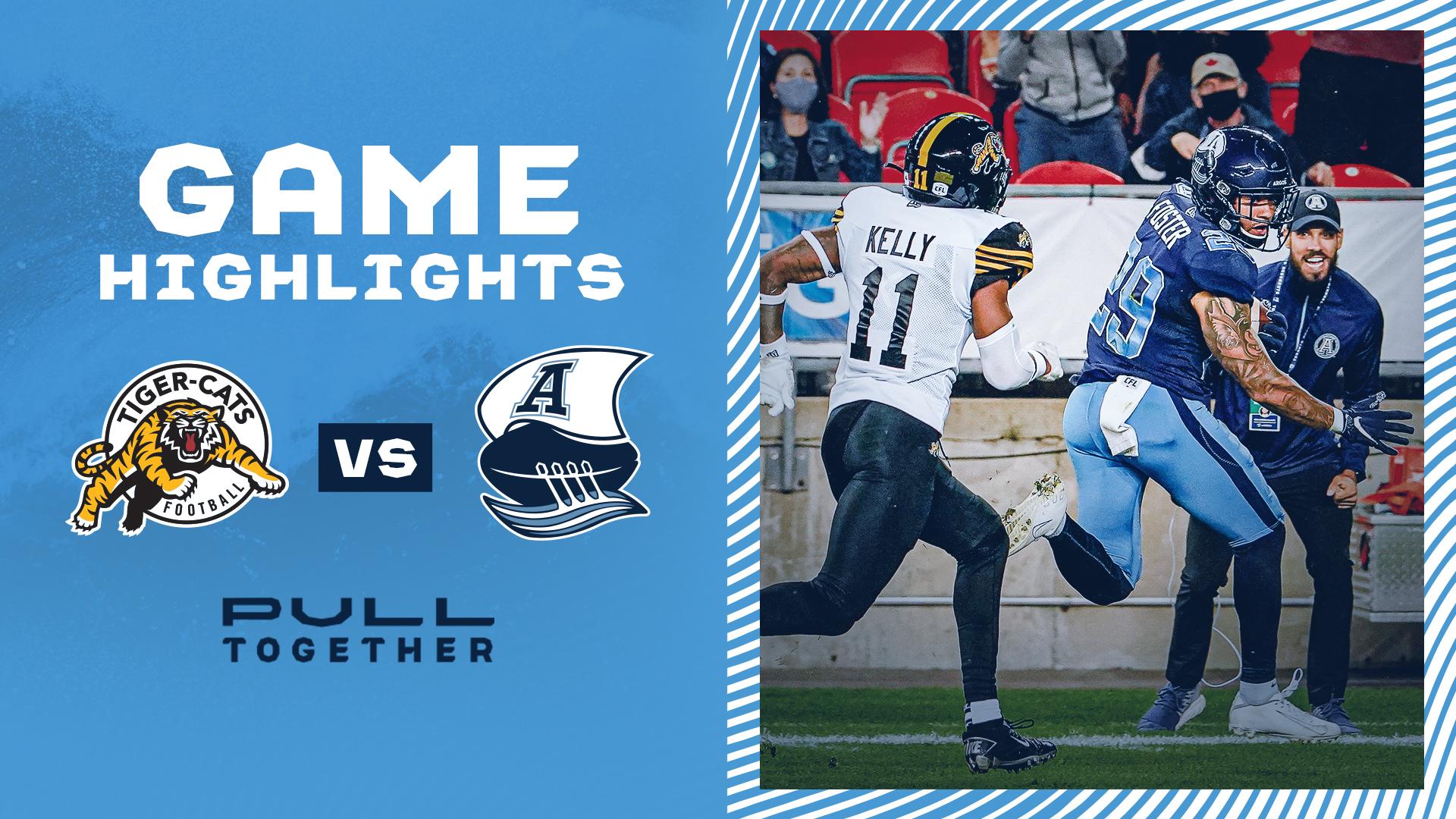 Game Highlights | Toronto Argonauts vs. Hamilton Tiger-Cats