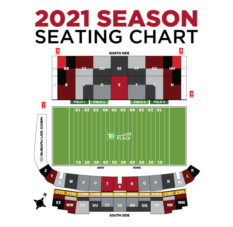 2021 Season Seating Chart