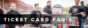 Image of drum line in game linking to the Ticket Card FAQ page