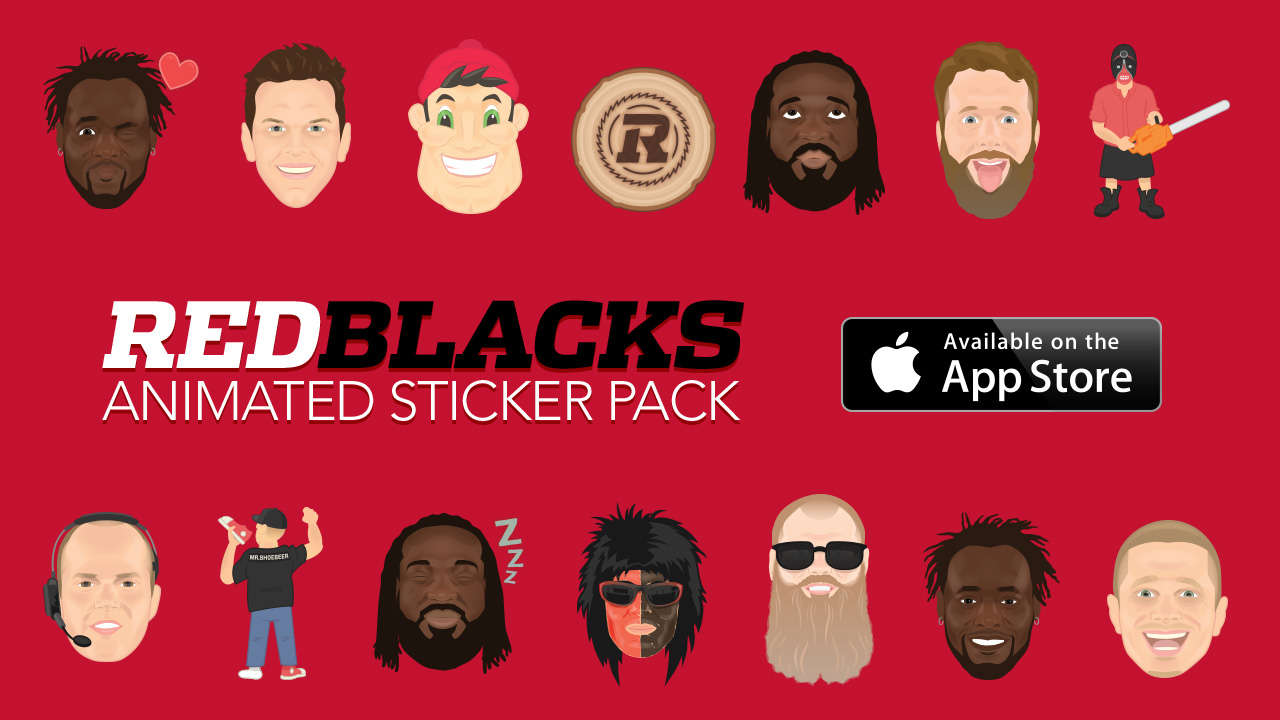 Animated Sticker Pack AD with the Apple Stroe Logos and some of the Emojis