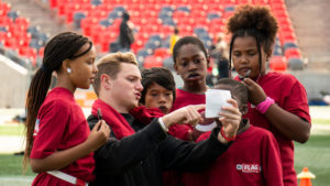 Danny Collins goes from QB to coach for youth flag football tournament