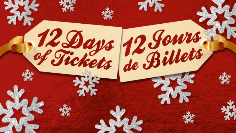 Celebrate the holidays and save with 12 days of tickets