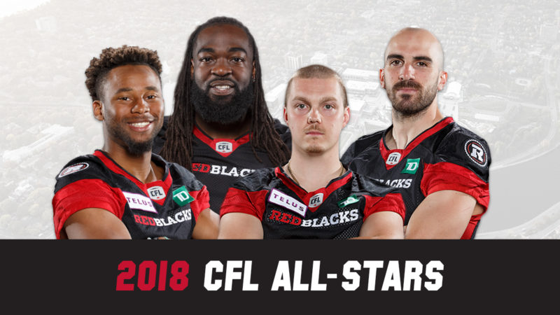 Four REDBLACKS named to CFL All-Star team