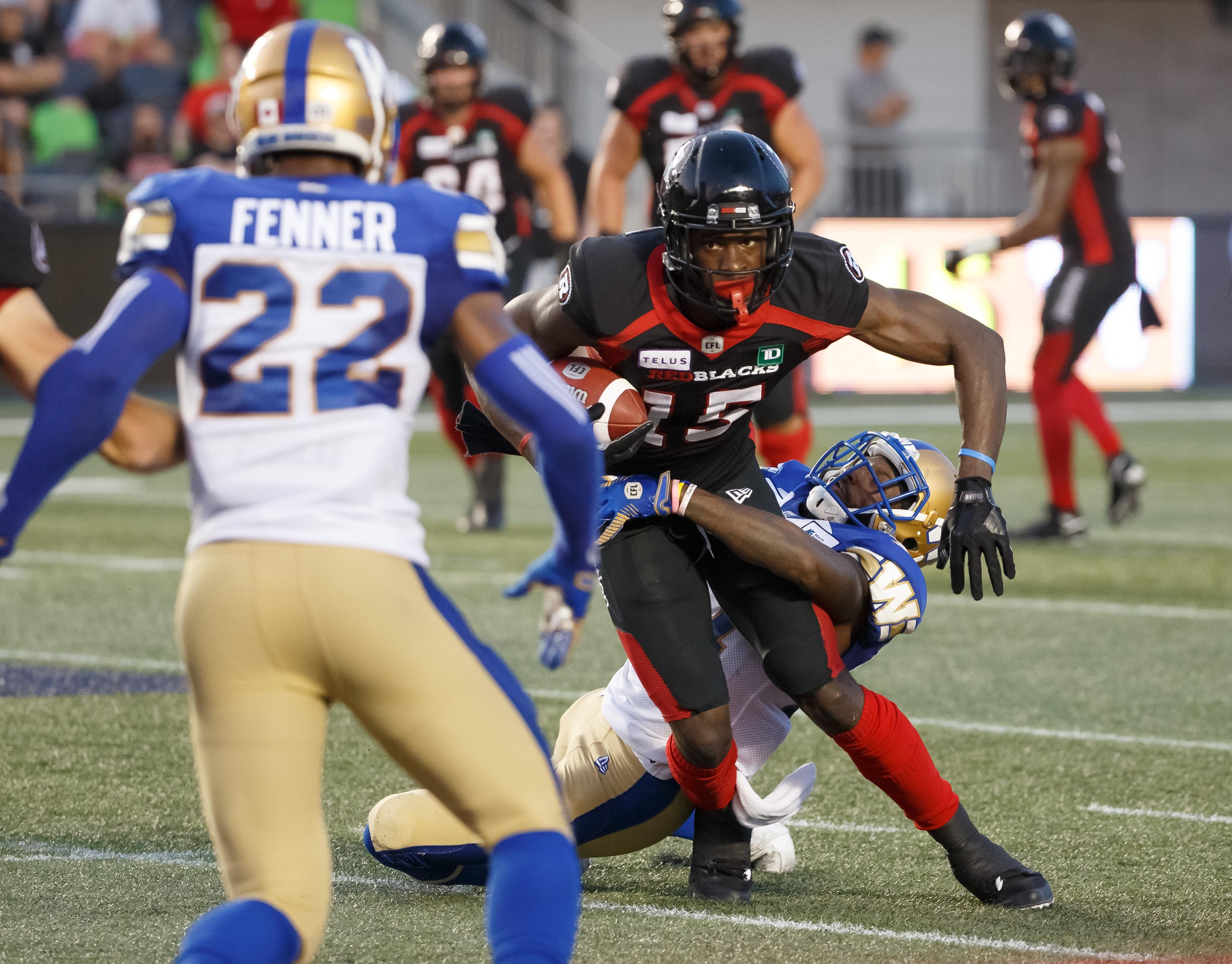 Winnipeg Bluebombers vs Ottawa REDBLACKS July 5, 2019 - PHOTO: Andre Ringuette/Freestyle Photography