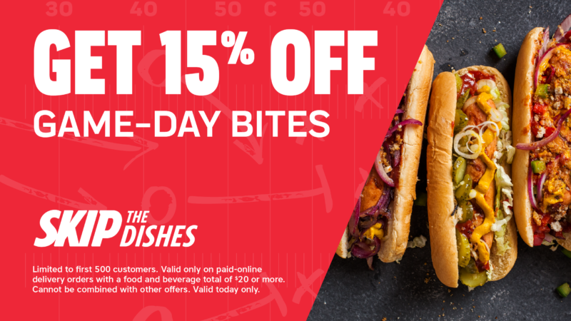 Away Game SkipTheDishes Offer