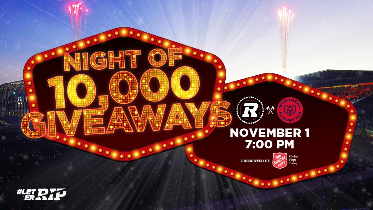 Top 5 Reasons to be at our Game on November 1st - Ottawa REDBLACKS