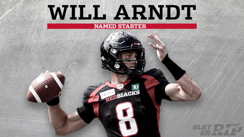Will Arndt Named Starting QB