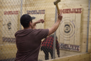 Season Seat Members Come Out for Night of Axe Throwing Fun