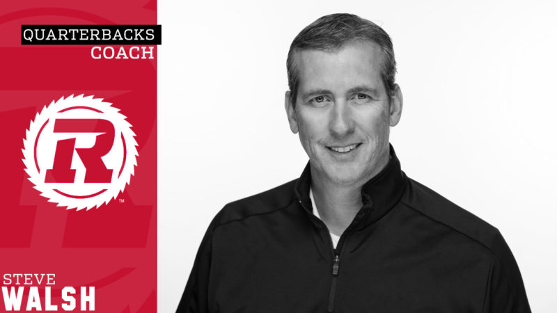 Steve Walsh named REDBLACKS Quarterbacks Coach - Ottawa REDBLACKS