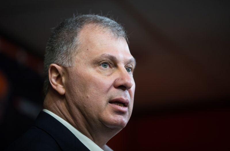 CFL commissioner Randy Ambrosie attends a a news conference in Surrey, B.C., on Thursday February 28, 2019. The only certainty CFL commissioner Ambrosie has these days is uncertainty. THE CANADIAN PRESS/Darryl Dyck