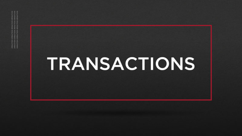 REDBLACKS Transactions: July 19, 2021