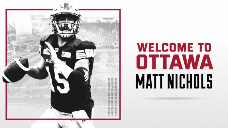 REDBLACKS sign veteran QB Matt Nichols