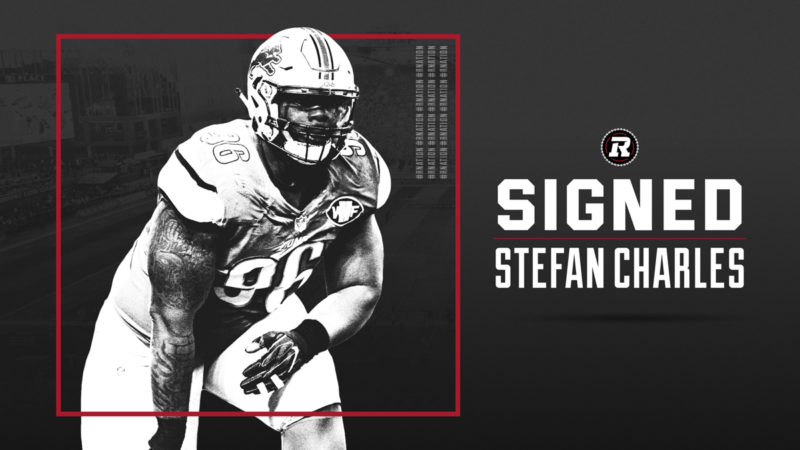 REDBLACKS sign Canadian defensive lineman Stefan Charles on opening day of CFL Free Agency