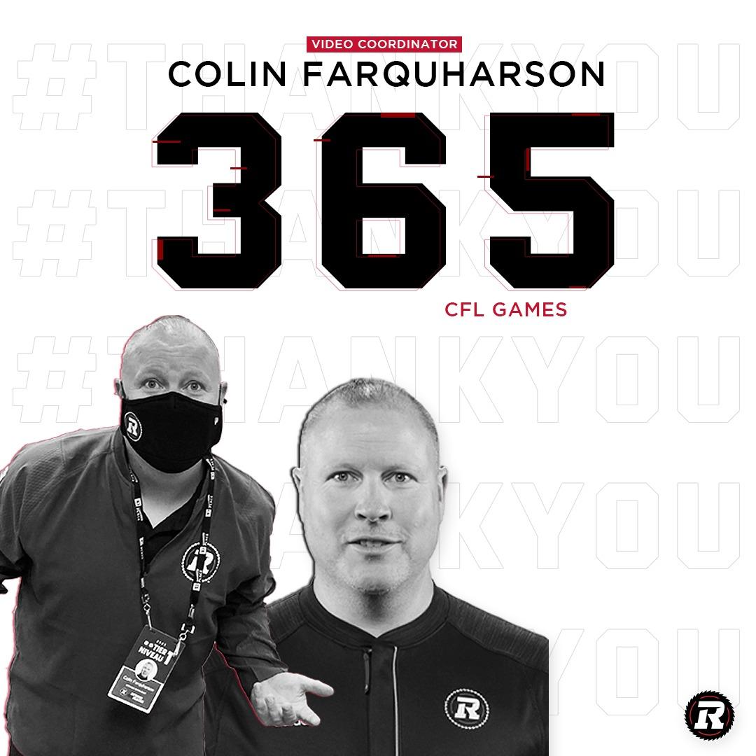 365 Game Milestone graphic for video coordinator Colin Farquharson